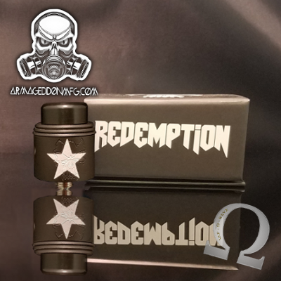 Redemption RDA Black With Silver Star