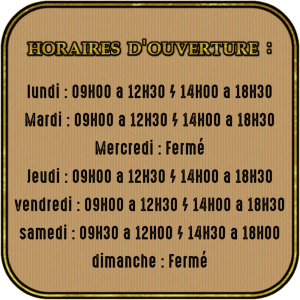 Horaires site 1